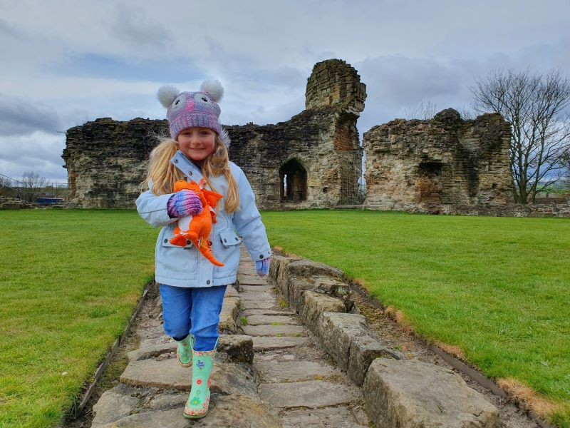 Our day out at Flint Castle with Zog, a toddler and a pooch.