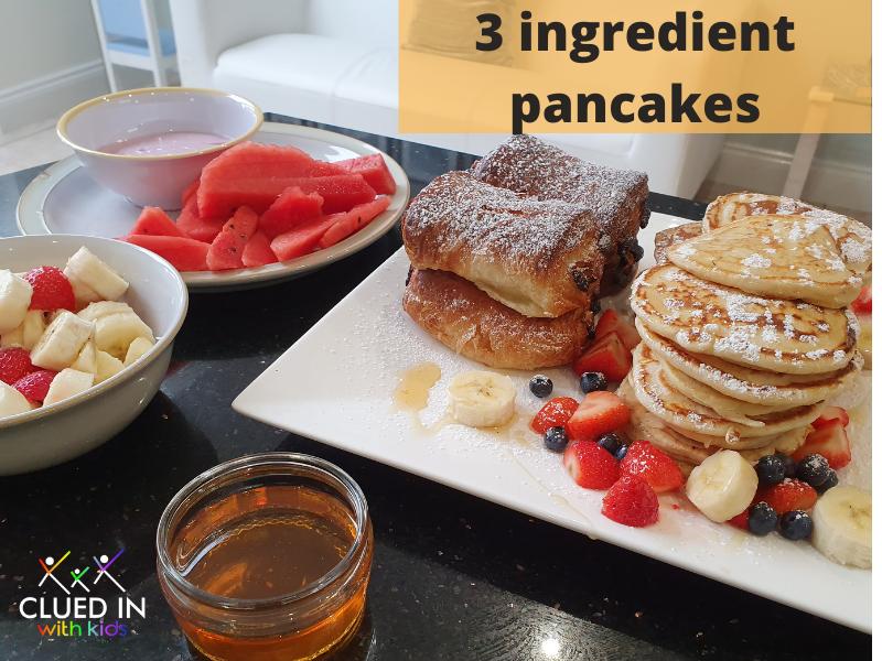 Three ingredient American Pancakes - Easy kids recipes